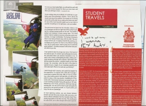 """CampusX"" Magazine Summer 2007.  ""Livin' the Sky Life"" & ""Student Travels""."