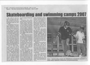 """West Carleton Review"" Newspaper, June 2007.  Skateboard Park Editorials."